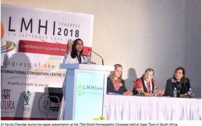Nagpur's Dr Kavita Chandak presents research papers at 73rd World Homeopathic Congress in SA