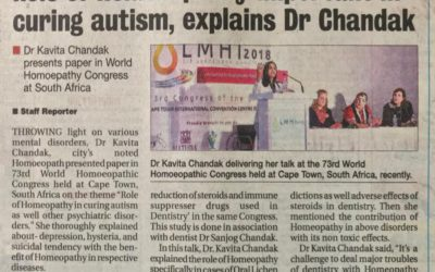 Dr. Kavita Chandak presents paper in World Homoepathy Congress at South Africa